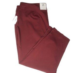 NEW!!! Roz & Ali brick red pants size 24
